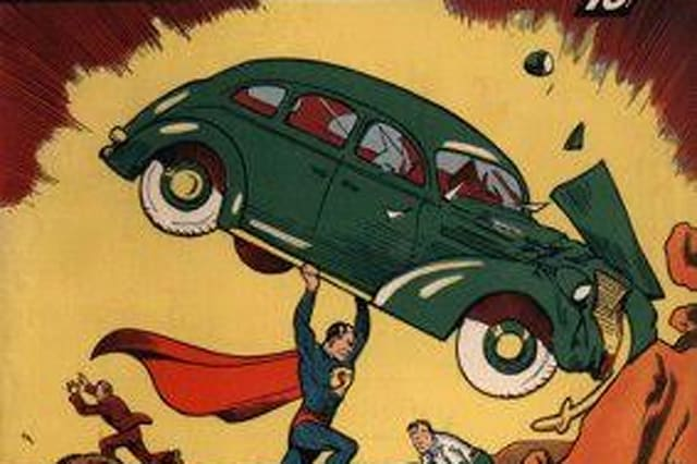 The first issue of Action Comics