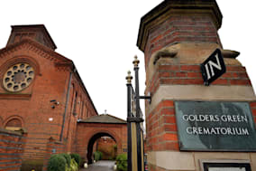 The entrance to Golders Green Crematorium, London, from where thieves have tried to steal the ashes of the founder of psychoanalysis Sigmund Freud and his wife Martha. PRESS ASSOCIATION Photo. Picture date: Wednesday January 15, 2014. The burglars