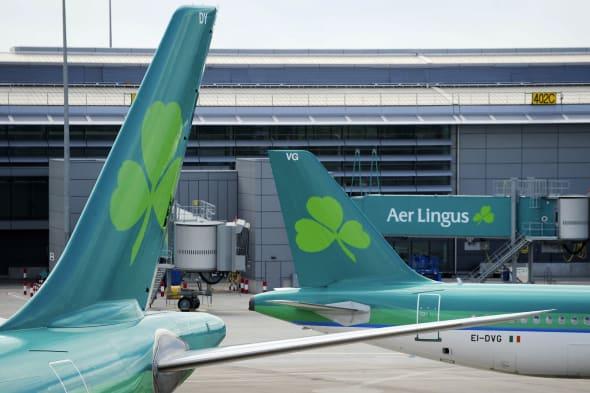 Aer Lingus Aircraft At Dublin Airport