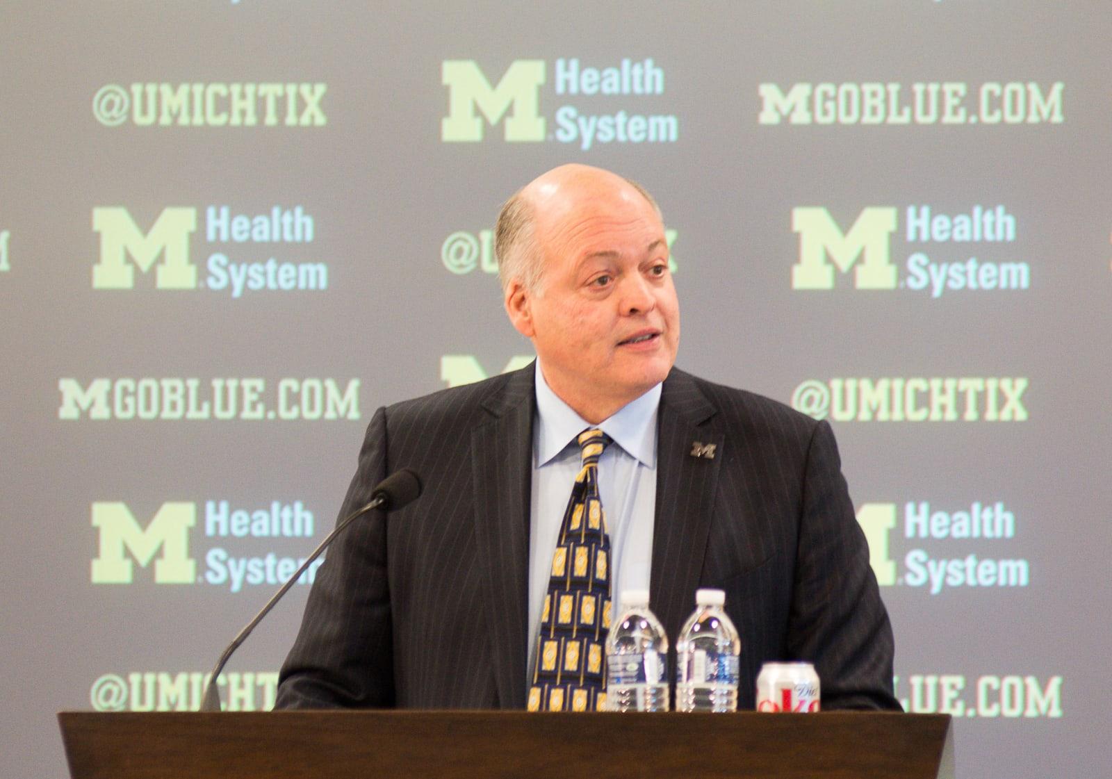 NCAA FOOTBALL: DEC 30 Jim Harbaugh Introduced as Michigan Head Coach