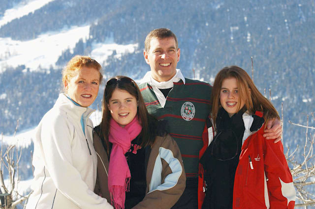 Duke And Duchess Of York And Their Daughters Attend Photocall