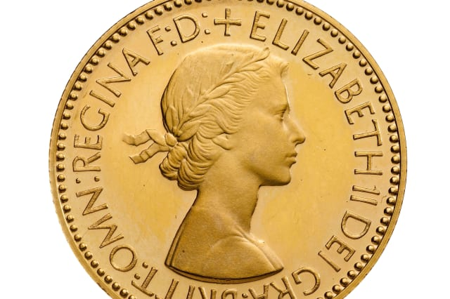 The Gillick Portrait on a 1953 Sovereign