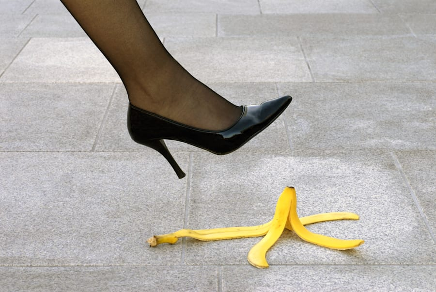 When it comes to stacking it in heels, no banana