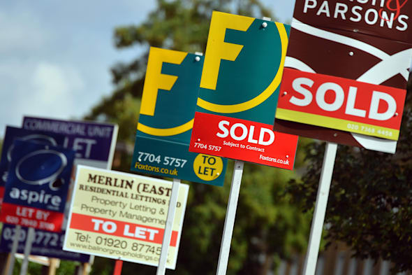 Embargoed to 0001 Thursday March 6File photo dates 09/08/13 of Estate Agent's boards as the Government has failed to demonstrate whether its �3.7 billion Help To Buy equity loan mortgage scheme is giving value for money, the spending watchdog has warned. PRESS ASSOCIATION Photo. Issue date: Thursday March 6, 2014. The scheme was launched in England last April with the aim of offering credit-worthy buyers with a deposit of at least 5% a helping hand onto the property ladder as well as increasing the housing supply by being targeted at new-build properties only. But the National Audit Office (NAO) found there is no method in place to measure what the