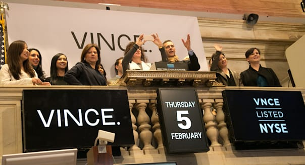 Vince Holding Corp. Celebrates Fashion Week By Ringing NYSE Opening Bell