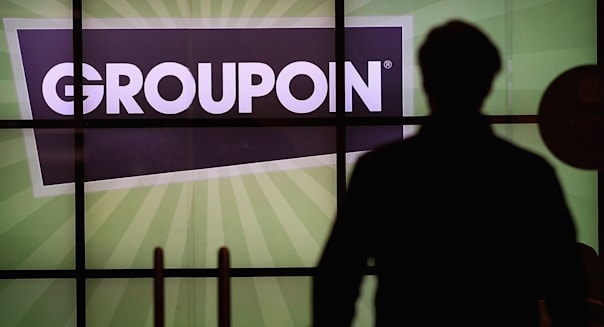 CHICAGO, IL - JUNE 10:  The Groupon logo is displayed in the lobby of the company's international headquarters on June 10, 2011 in Chicago, Illinois. Groupon, a local e-commerce marketplace that connects merchants and consumers by offering goods and services at a discount, announced June 2 that it had filed with the Securities and Exchange Commission for a proposed initial public offering of its Class A common stock. The company, launched in Chicago in November 2008 now markets products and services in 43 countries around the world.  (Photo by Scott Olson/Getty Images)