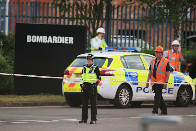 Collapsed crane in Crewe