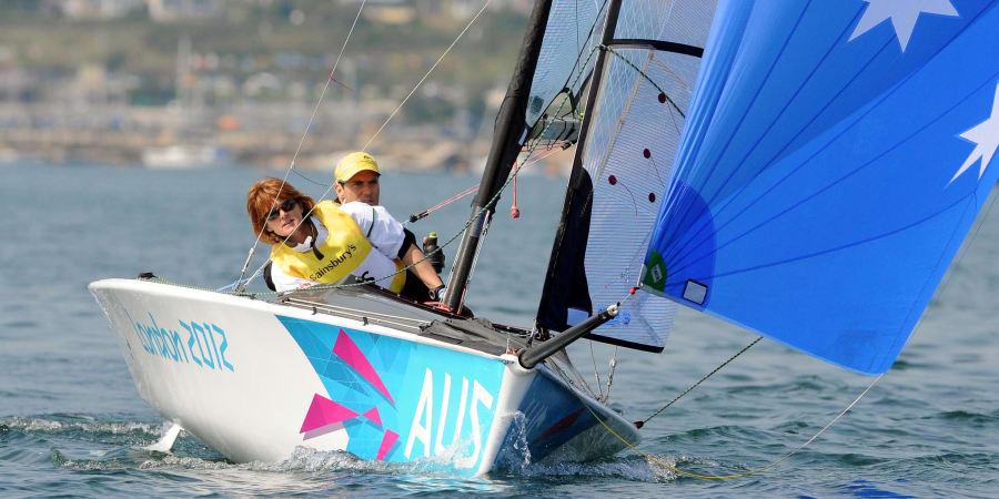 Liesl Tesch and Daniel Fitzgibbon racing in