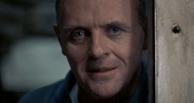 """anthony hopkins as hannibal lecter in """"the silence of the lambs"""""""
