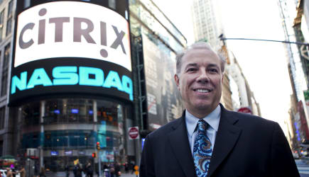 Citrix Systems Inc. CEO Mark Templeton Rings Nasdaq Opening Bell