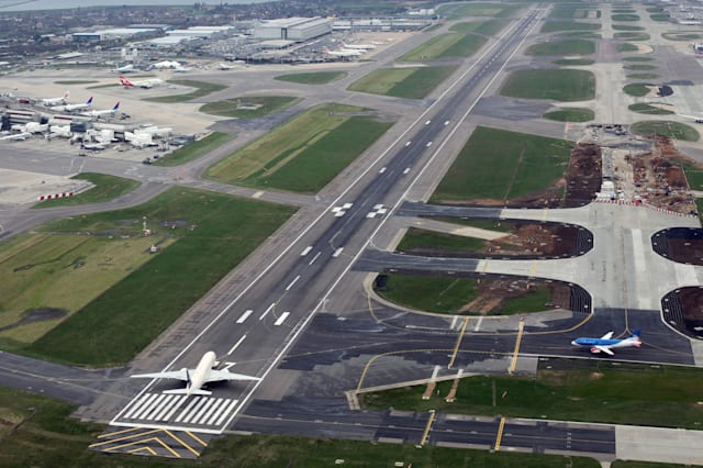 Aerial Views Of Grounded British Airways Jets