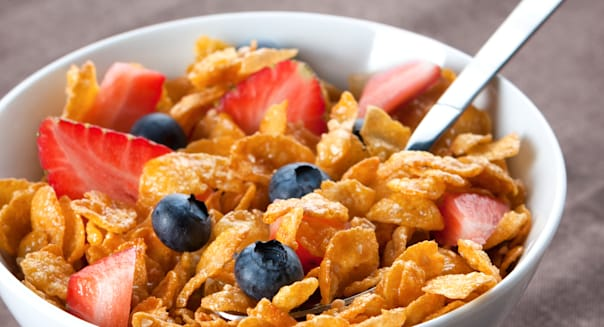 bowl of healthy corn flakes...
