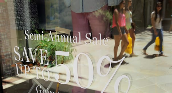 Views Of Shoppers As Consumer sentiment Figures Are Released