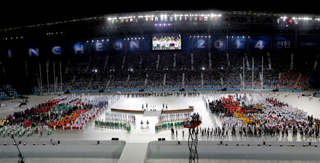 This was the Opening Ceremony of the 2014 Asian Games at Incheon, South Korea. Australia was not there,...