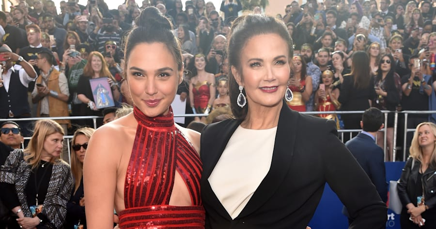 Gal Gadot and Lynda Carter Look Amazing at the 'Wonder Woman' Premiere