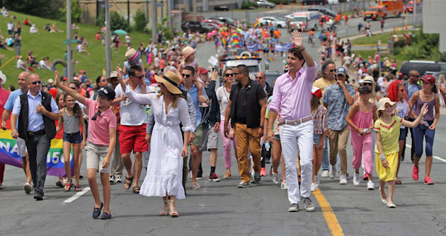 Trudeau becomes first Canadian PM to march in Toronto