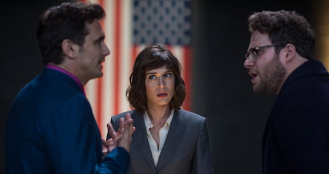 The Interview, James Franco, Seth Rogen, Lizzy Caplan