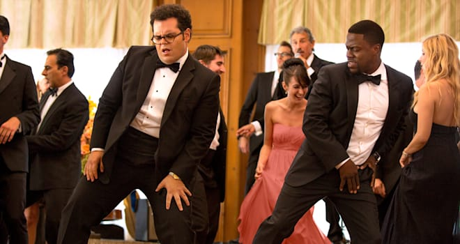 Doug (Josh Gad) and Jimmy (Kevin Hart) in Screen Gems' THE WEDDING RINGER.