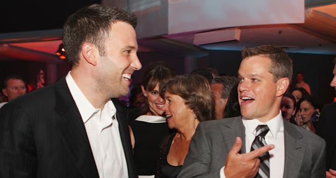 Ben Affleck and Matt Damon at 'The Bourne Ultimatum' Premiere After-Party on July 25, 2007