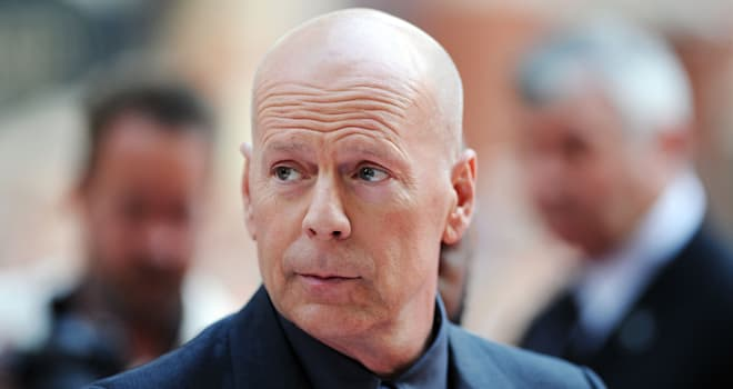 Bruce Willis at the European Premiere of 'Red 2' on July 22, 2013