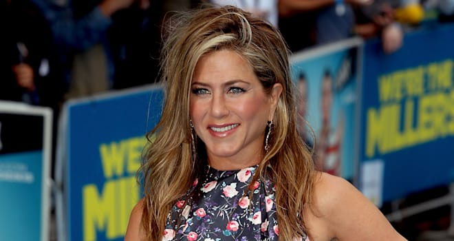 Jennifer Aniston at the European Premiere of 'We're The Millers' in London on August 14, 2013