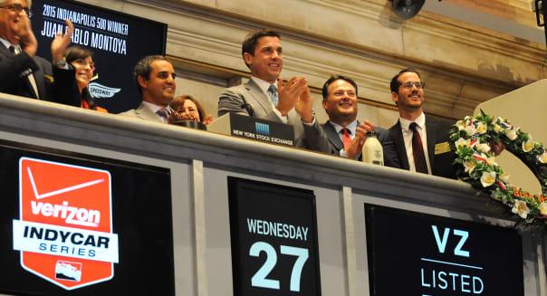 2015 Indianapolis 500 Winner Juan Pablo Montoya Rings In NYSE Opening Bell
