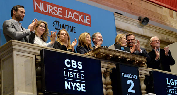 The Cast Of Nurse Jackie Ring The NYSE Opening Bell