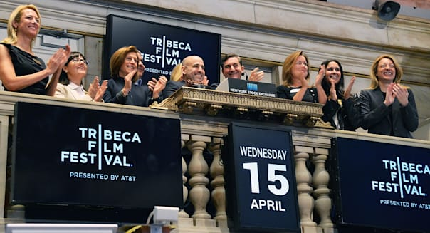 Tribeca Film Festival Rings The NYSE Opening Bell