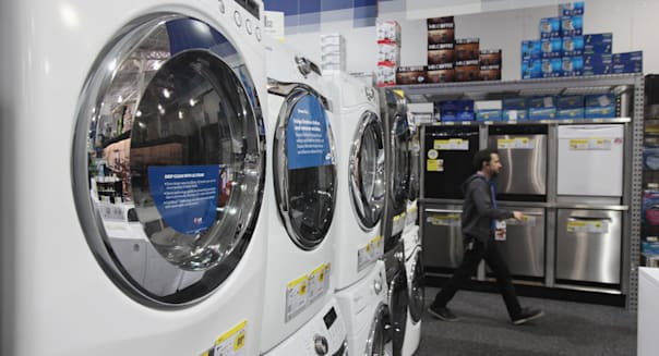 Inside a Best Buy Store Ahead Of Durable Good Orders Data
