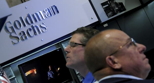 Trading At Goldman Sachs Group Inc. & Knight Capital Group Inc. NYSE Trading Booths Ahead Of Earnings Reports