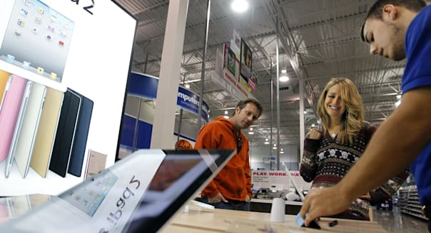 Oct. 19, 2011 - U.S. - At the Best Buy store in Eagan, Brian and Rebecca Eichenberger were shopping for a new laptop when they s