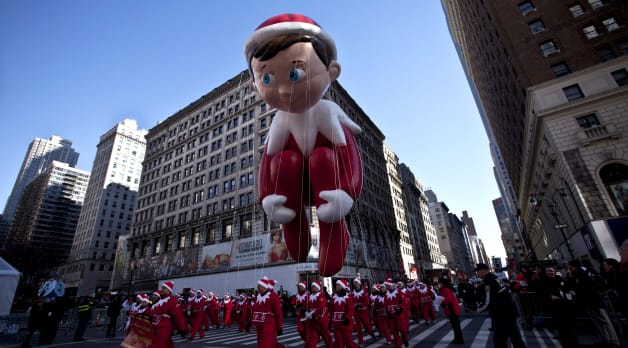 The Elf on the Shelf at the Macy's Parade