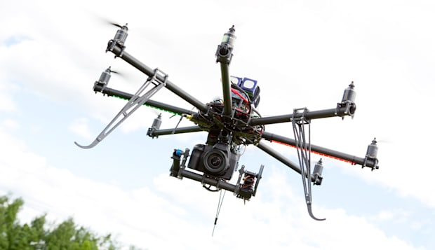 multirotor rc helicopter used...
