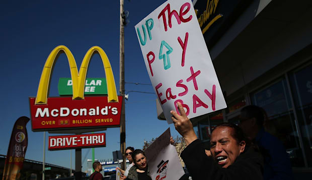 McDonald's Workers, Activists Protest McDonald's Labor Practices