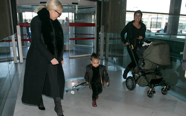Kim Kardashian West and North West Sighting at Charles-de-Gaulle Airport
