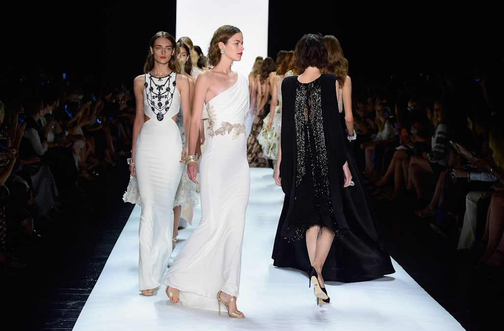 Badgley Mischka - Runway - Spring 2016 New York Fashion Week: The Shows