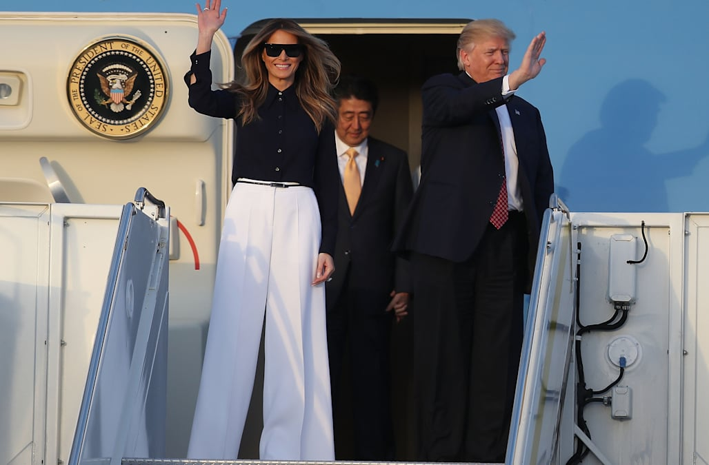 Melania Trump seriously wore the chicest pants for spring - AOL Shop