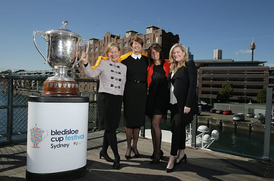 Ann Sherry with Margie Abbott, Sports Connect Managing Director Tanya Oziel and Microsoft Australia Managing...