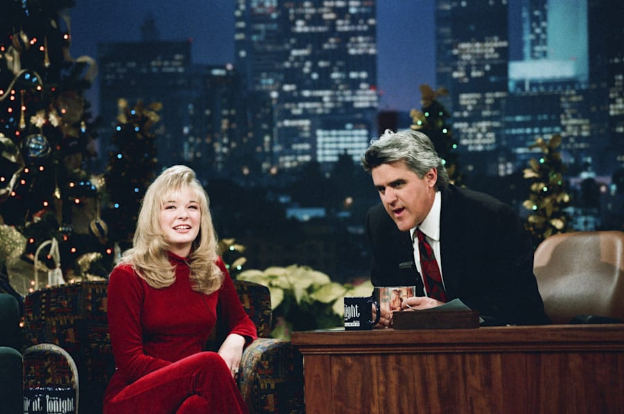 LeAnn Rimes with Tonight Show host Jay Leno in
