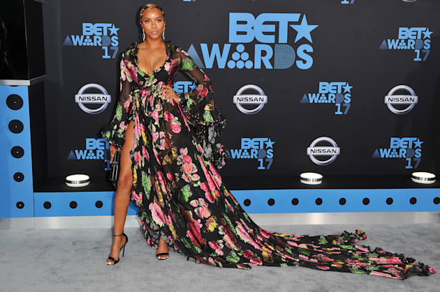 Actress LeToya Luckett arrives at the 2017 BET Awards at Microsoft Theater on June 25, 2017 in Los Angeles,...