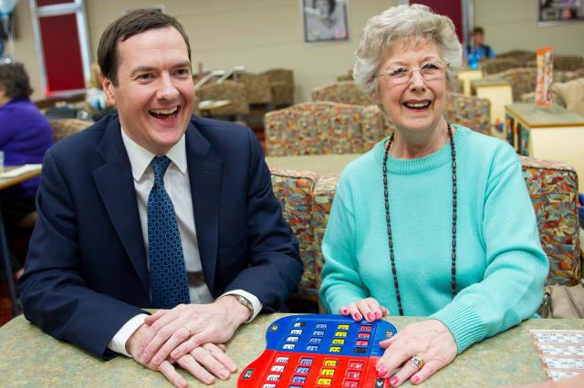 George Osborne at the bingo - how to win
