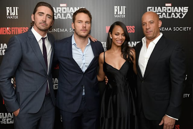 "The Cinema Society With Men's Fitness And FIJI Water Host A Special Screening Of Marvel's ""Guardians Of The Galaxy"" - Arrivals"