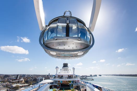 A viewing capsule gives views from 90 metres above sea