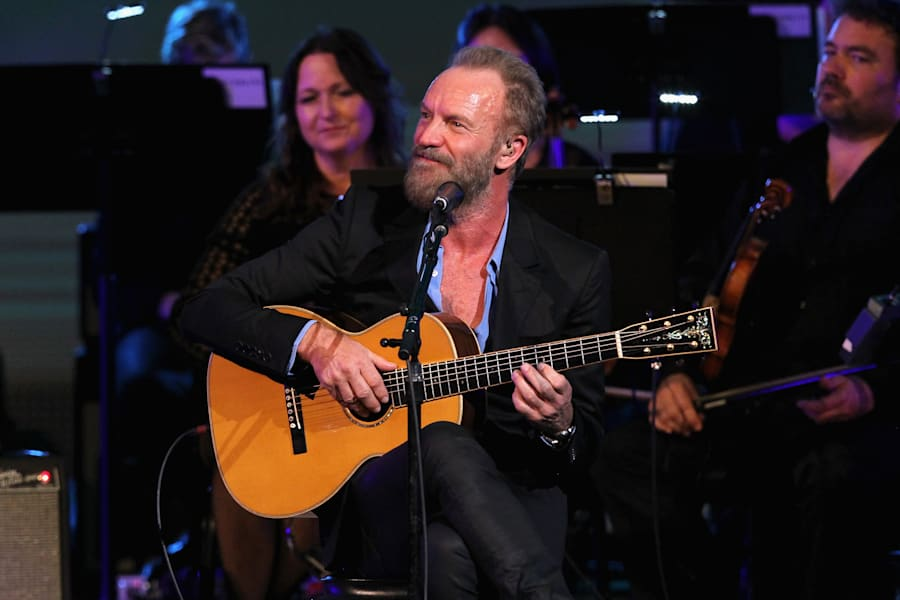 Sting performs during 'Change Begins Within: A David Lynch Foundation Benefit Concert' in