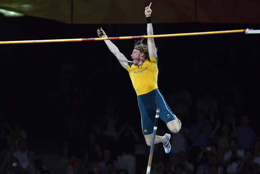 Pole vault is awesome. We don't watch enough pole vault,