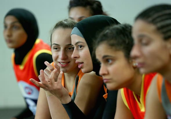 These are Sydney's Auburn Giants, just one of the growing number of amateur women's footy teams around
