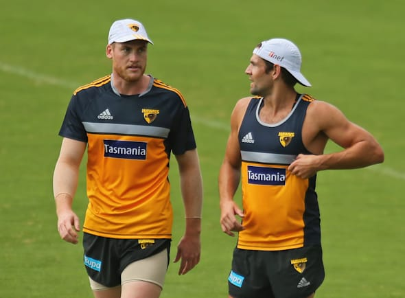 Roughie and Hodgey a couple of years