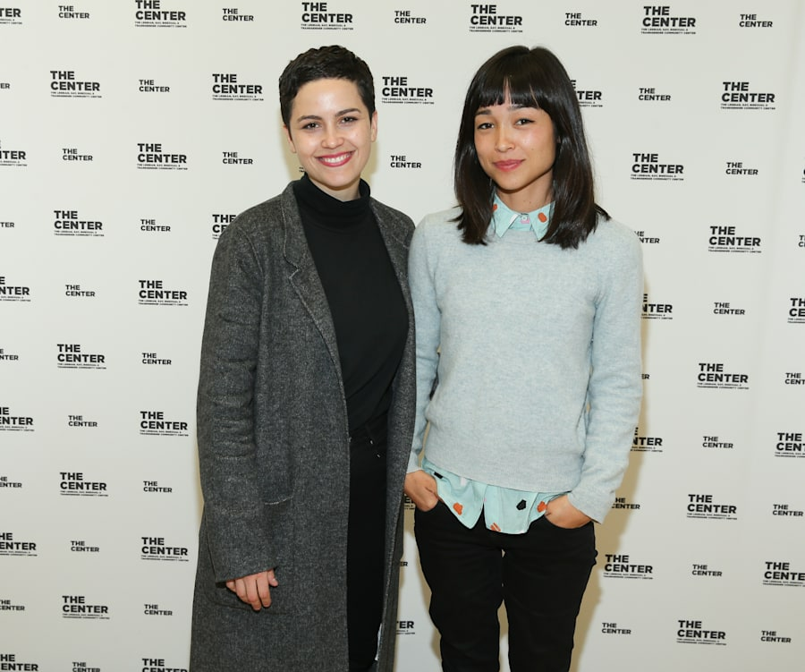'Gayby Baby' producer Charlotte Mars and director Maya Newell attend a screening of 'Gayby Baby' in New...