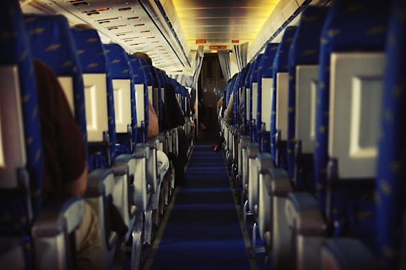 Cabin of a plane