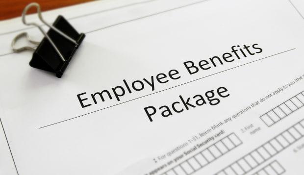 closeup of an employee benefit...